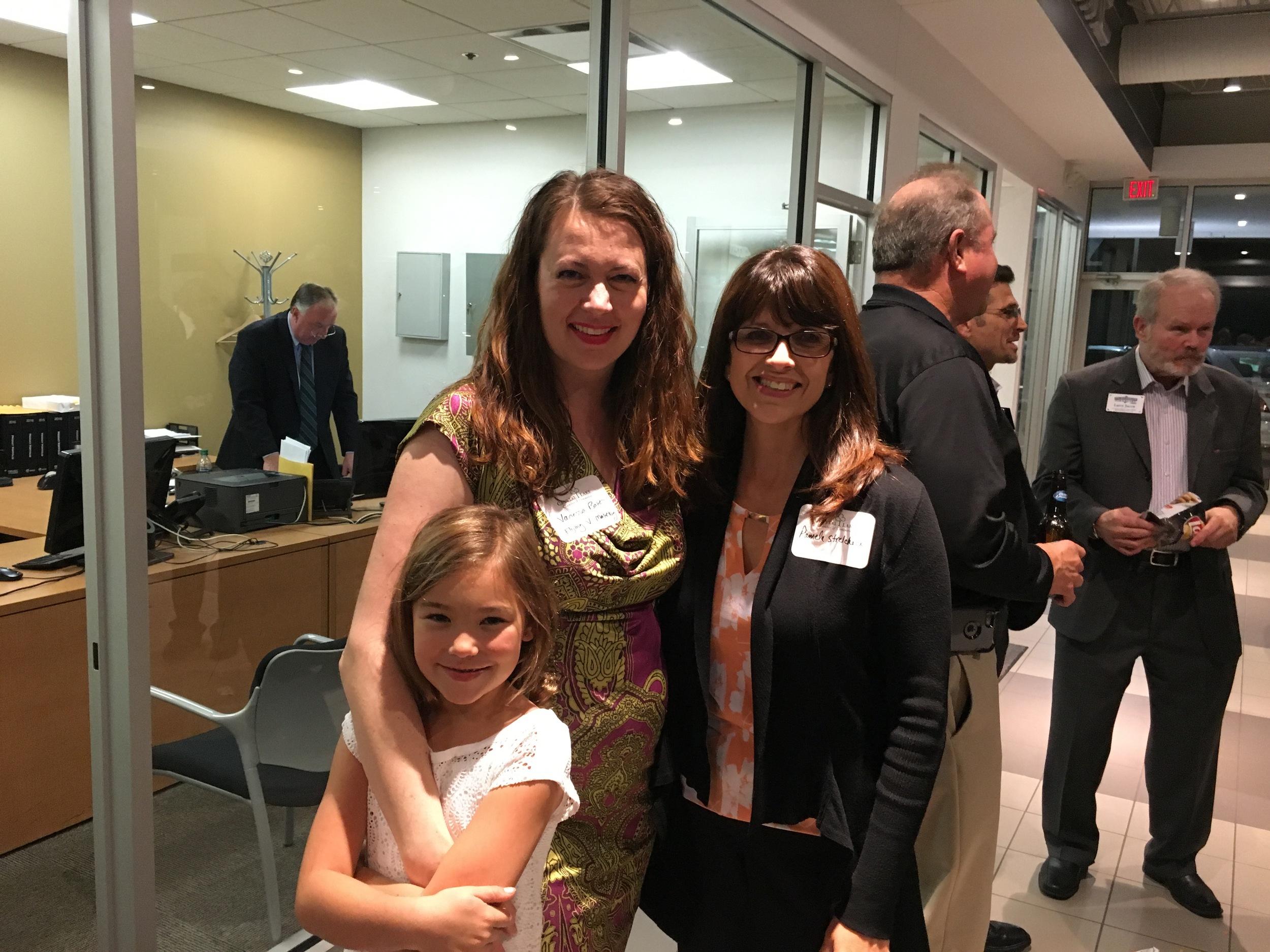 Vanessa Baker and family with Pamela Strelcheck