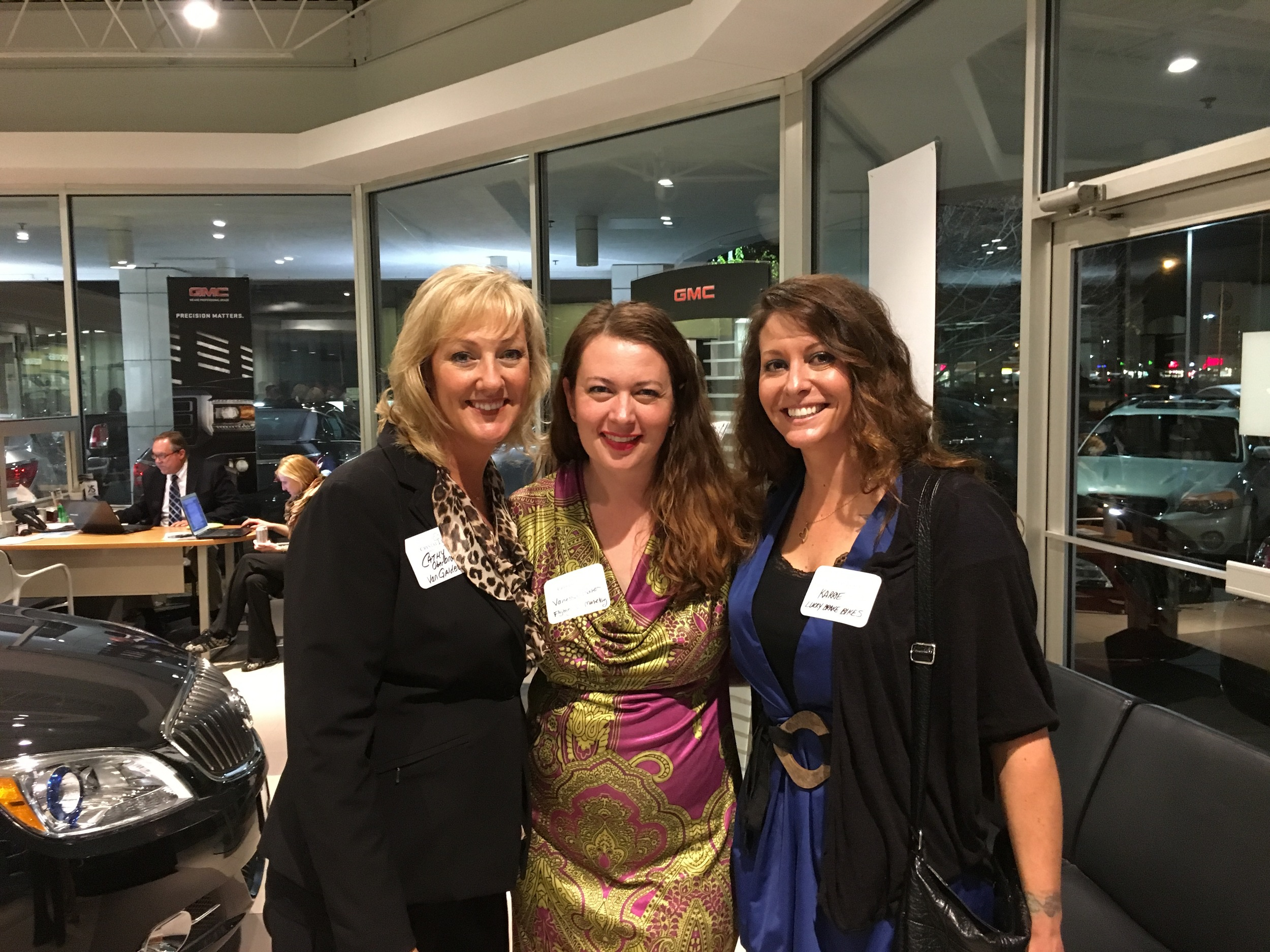 Cathy Oberbroeckling, Vanessa Baker and Karrie Ozyuk