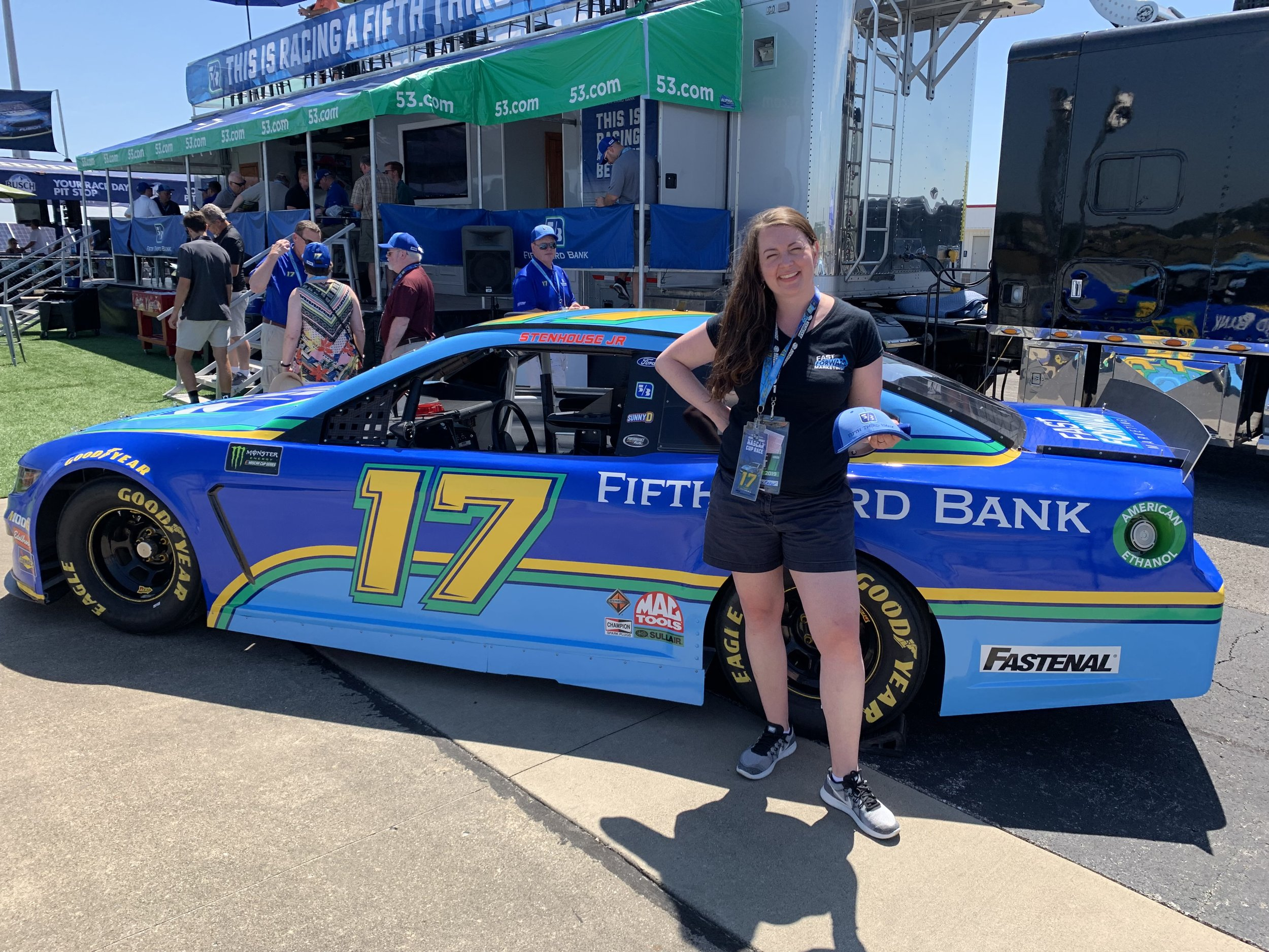 Posing with the Car and Fifth Third Hospitality Area