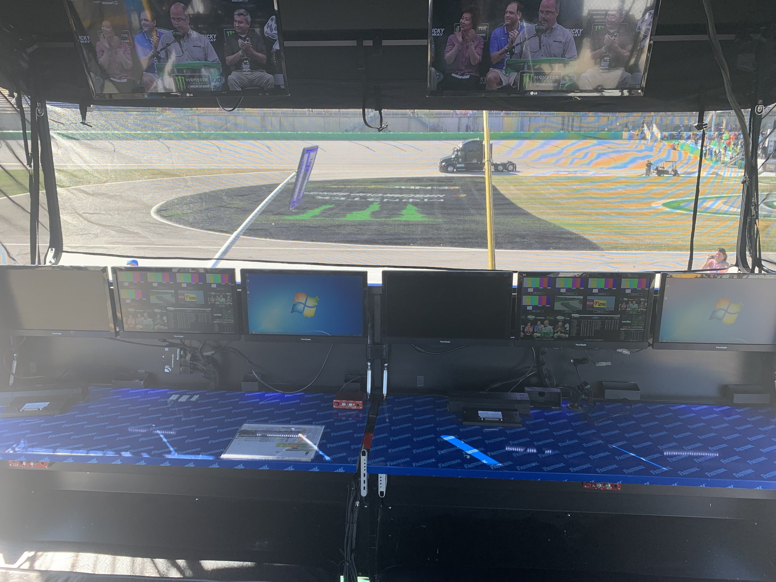 Inside of the Pit Stall Mission Control