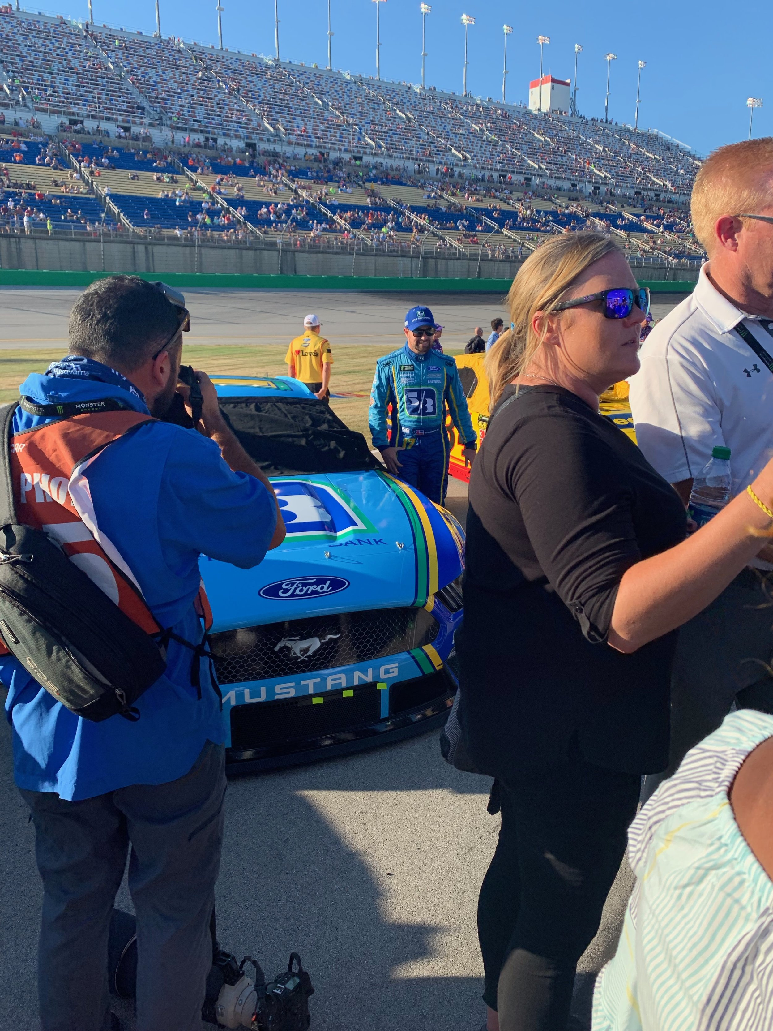 Ricky Stenhouse Jr Stands by his Car before Opening Ceremony