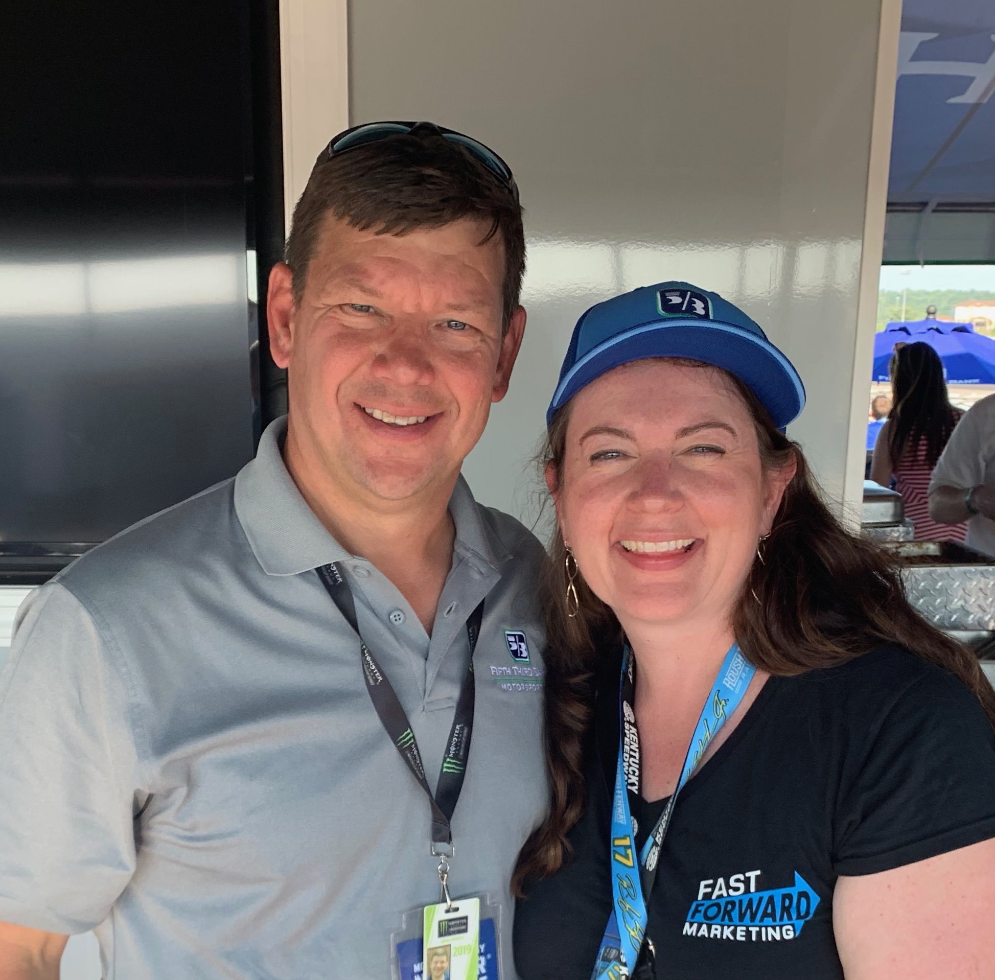 Vanessa with Alan Sulek, Vice President Business Banking Motorsports at Fifth Third Bank