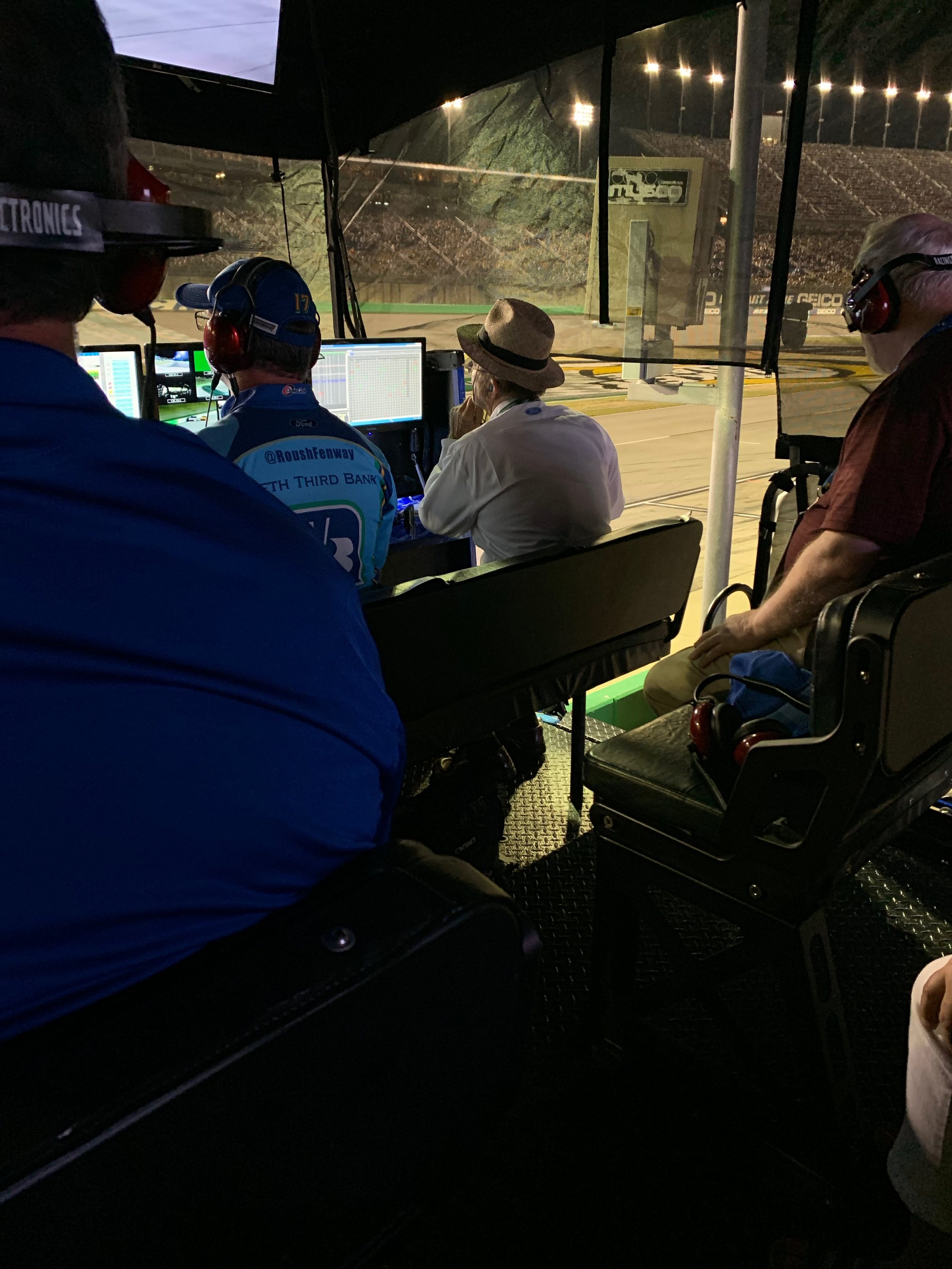 In the Pit with Jack Roush and other coaches