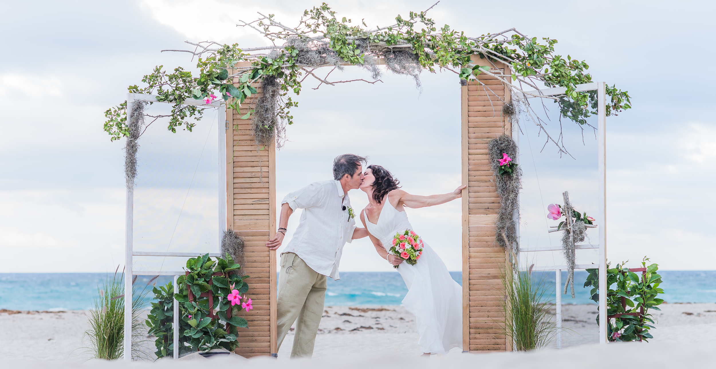 Tricia and Frank at their beautiful beach wedding on Singer Island, Florida.