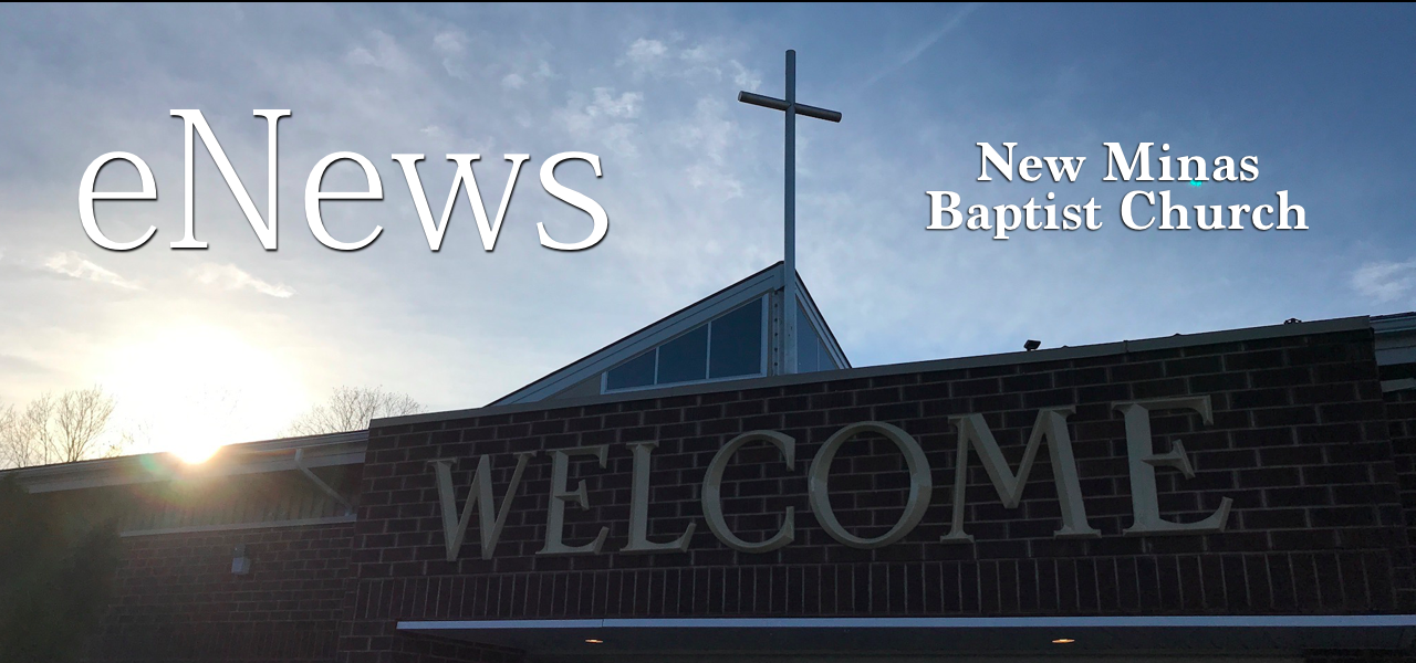 NMBC Enews - 2019, 05, 17 — New Minas Baptist Church