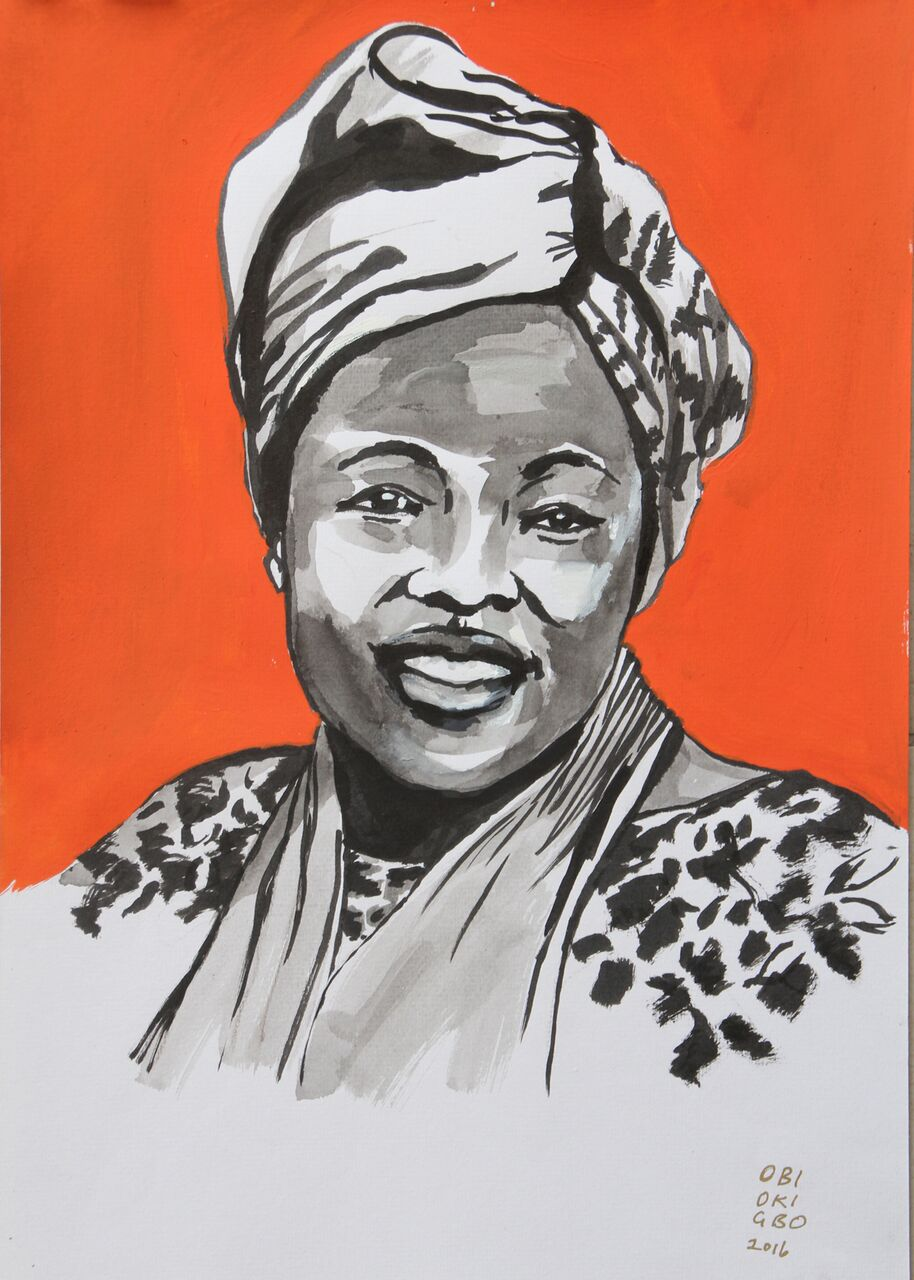 Wangari Maathai Portrait by Obiageli Okigbo