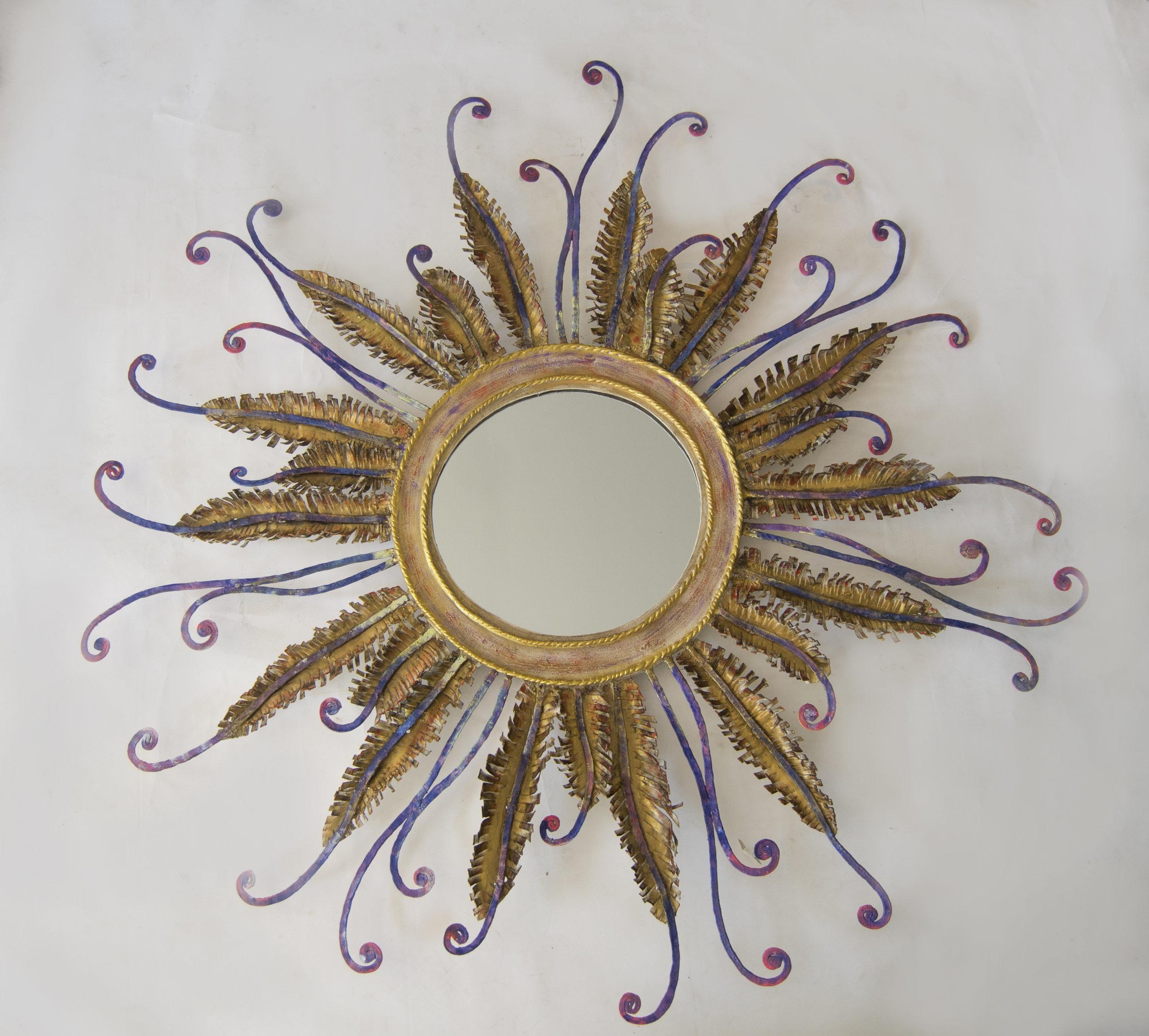 Peacock Mirror by Constance Swaniker