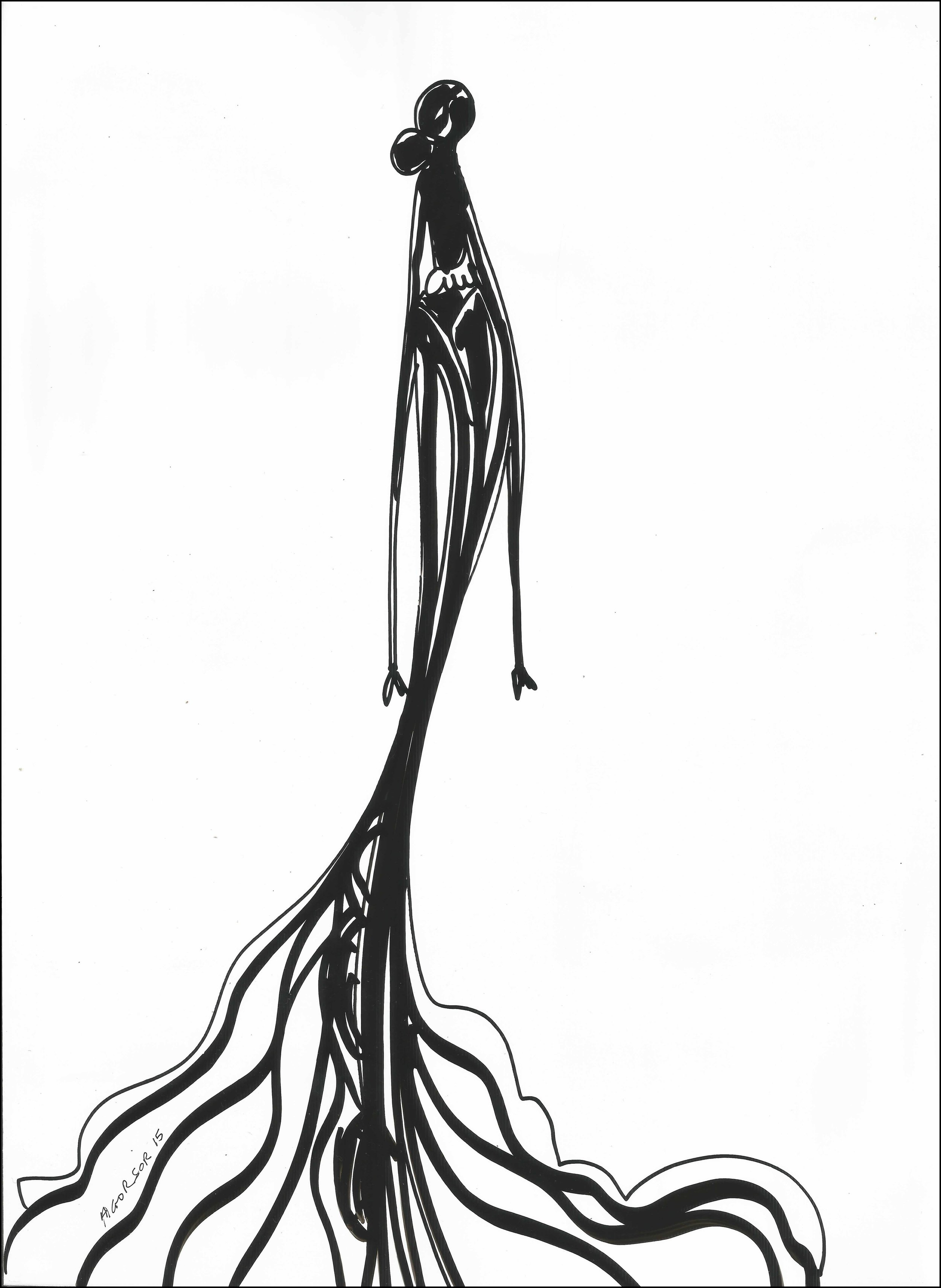 Untitled 3 by Kofi Agorsor, Ink on a Chromochron Sheet.jpg