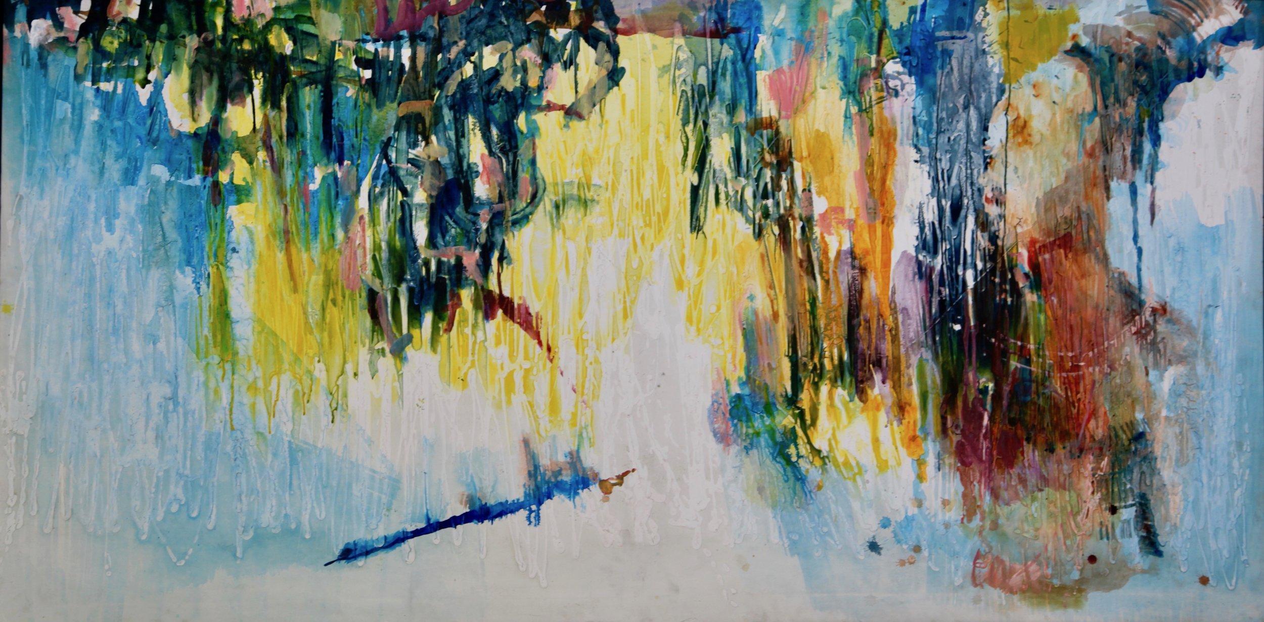 Village Square II, Acrylic on canvas, 108.5 x 214 cm, 2017.jpg