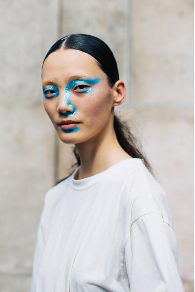 The glittering blue spread from Martin Margiela
