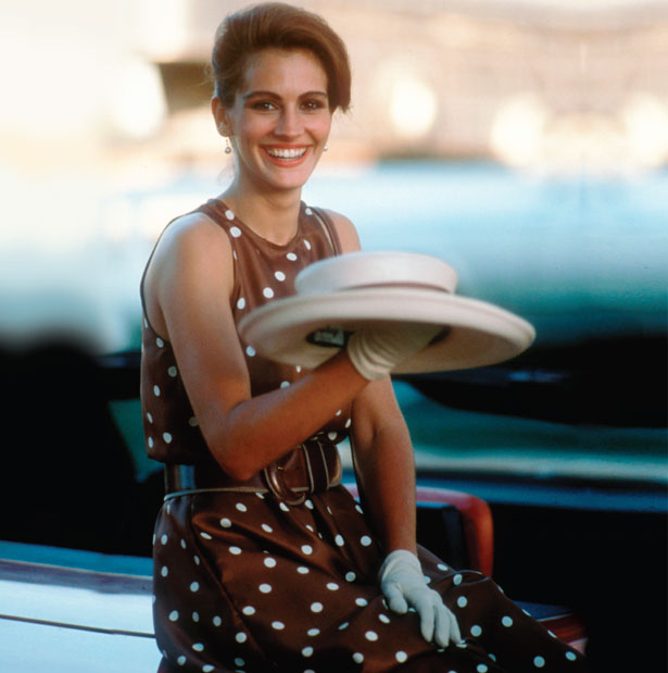 LITTLE HONEY WITH THE POLKA DOT DRESS. - The most iconic polo look is undoubtedly the brown polka dot dress worn by Julia Roberts in Pretty Woman. Fast forward thirty years later and it is still the print of choice and can be worn in a multitude of ways - whether its short, long, a top or skirt it has become the timeless go-to for any polo event.