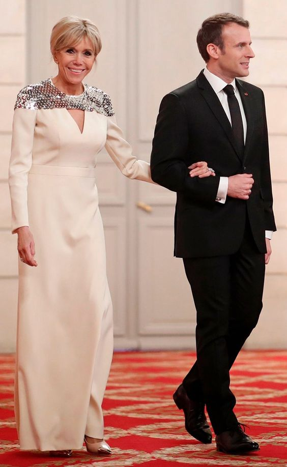 Brigitte Marie-Claude Trogneux-Macron is a French school teacher who is the wife of Emmanuel Macron, President of France and ex officio Co-Prince of Andorra since May 2017. In 2015, to help support her husband in his political career, she ended her career as a teacher of literature at a prestigious private high school, Lycée Saint-Louis-de-Gonzague, in Paris.