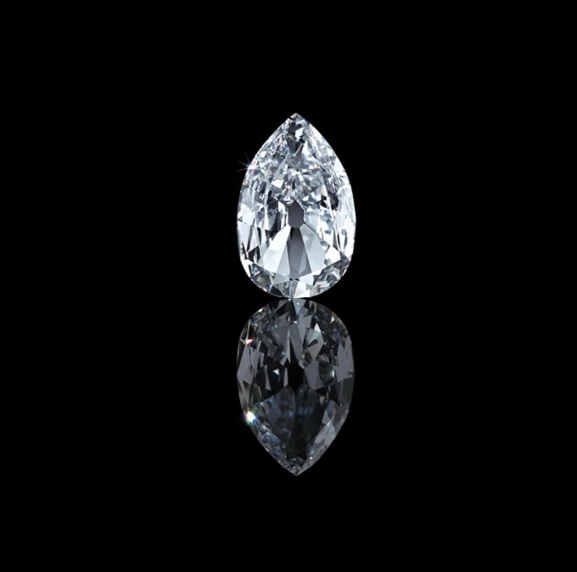 Arcot II diamond.  Photo source: christies.com