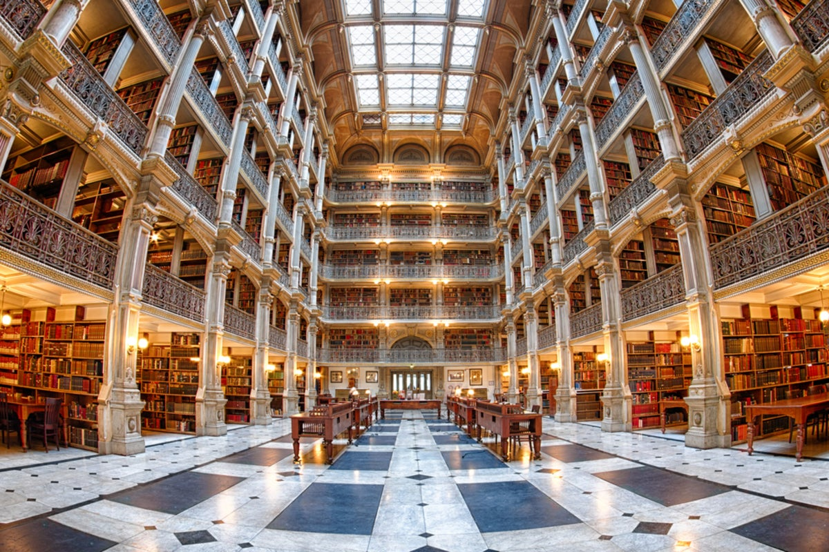 George Peabody Library, Photo Credit: Patch.