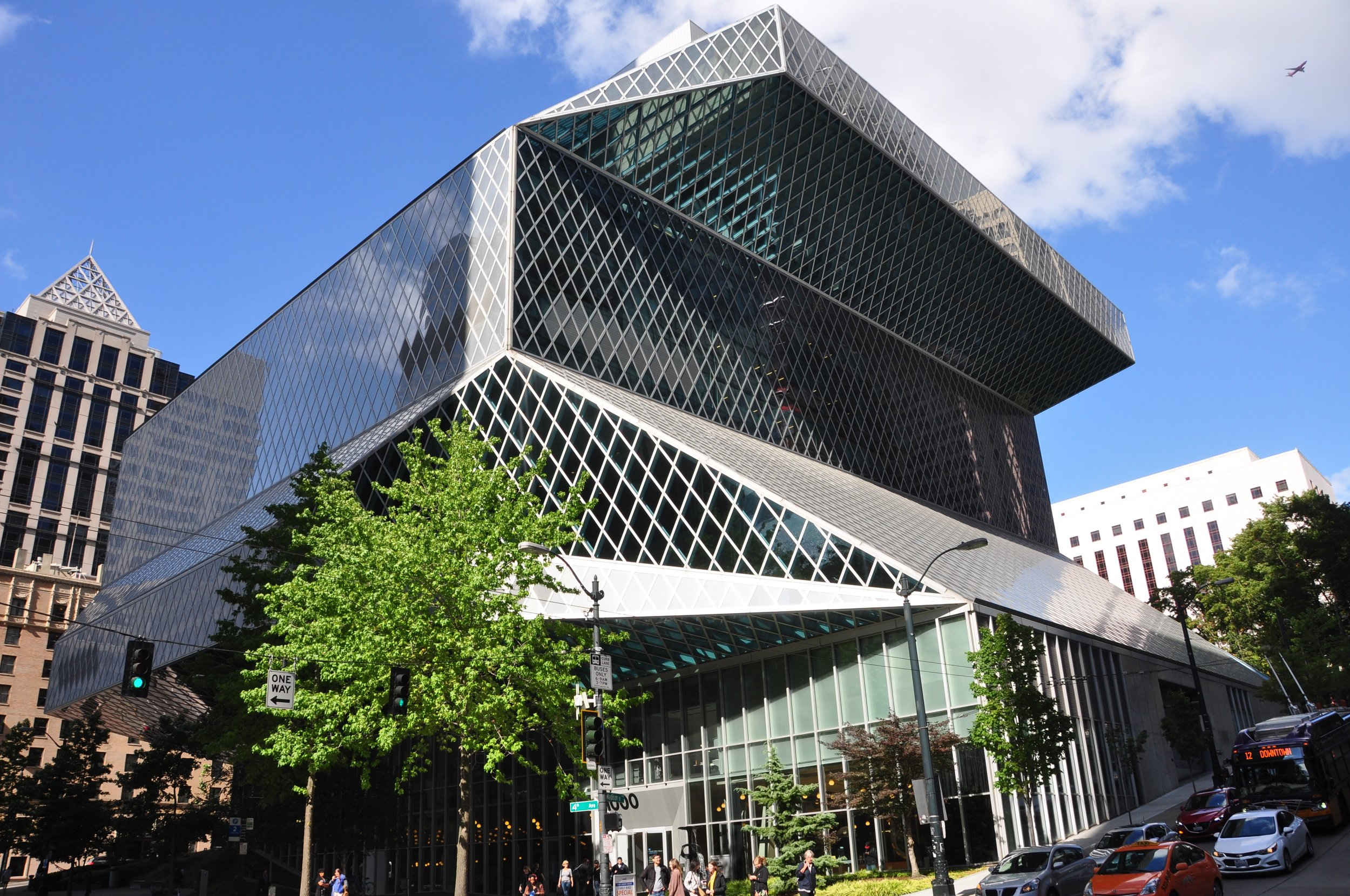 Seattle Central Library. Photo Source: Headers.