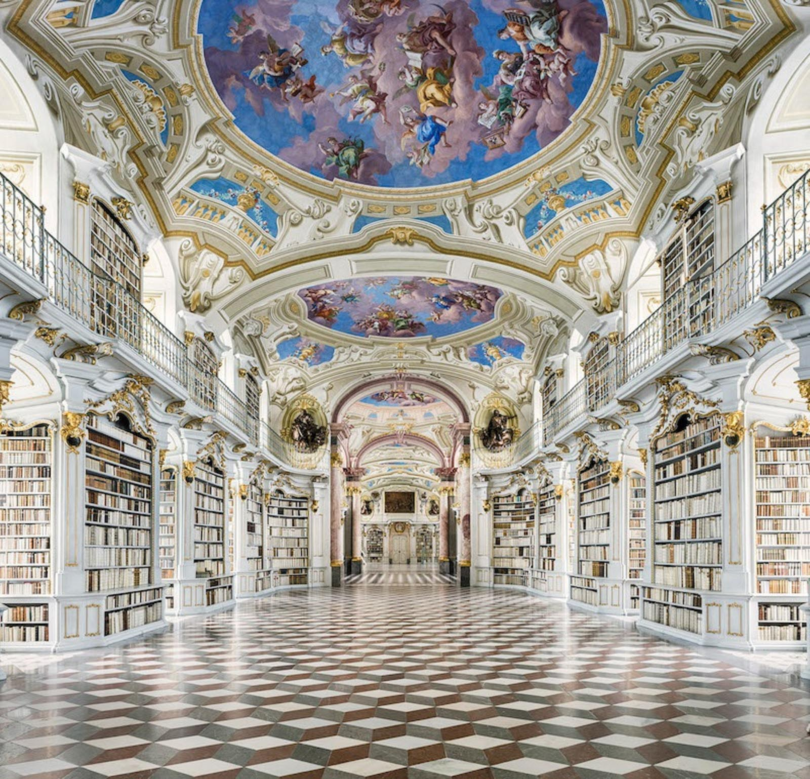 Admont Abbey Library. Photo Source: Enviedart.