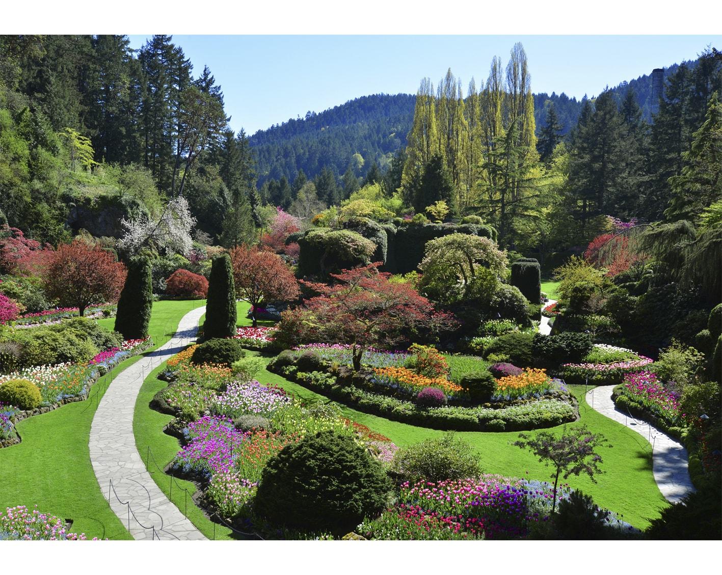 The Butchart Gardens. Credit: blog.canadatravelspecialists.com