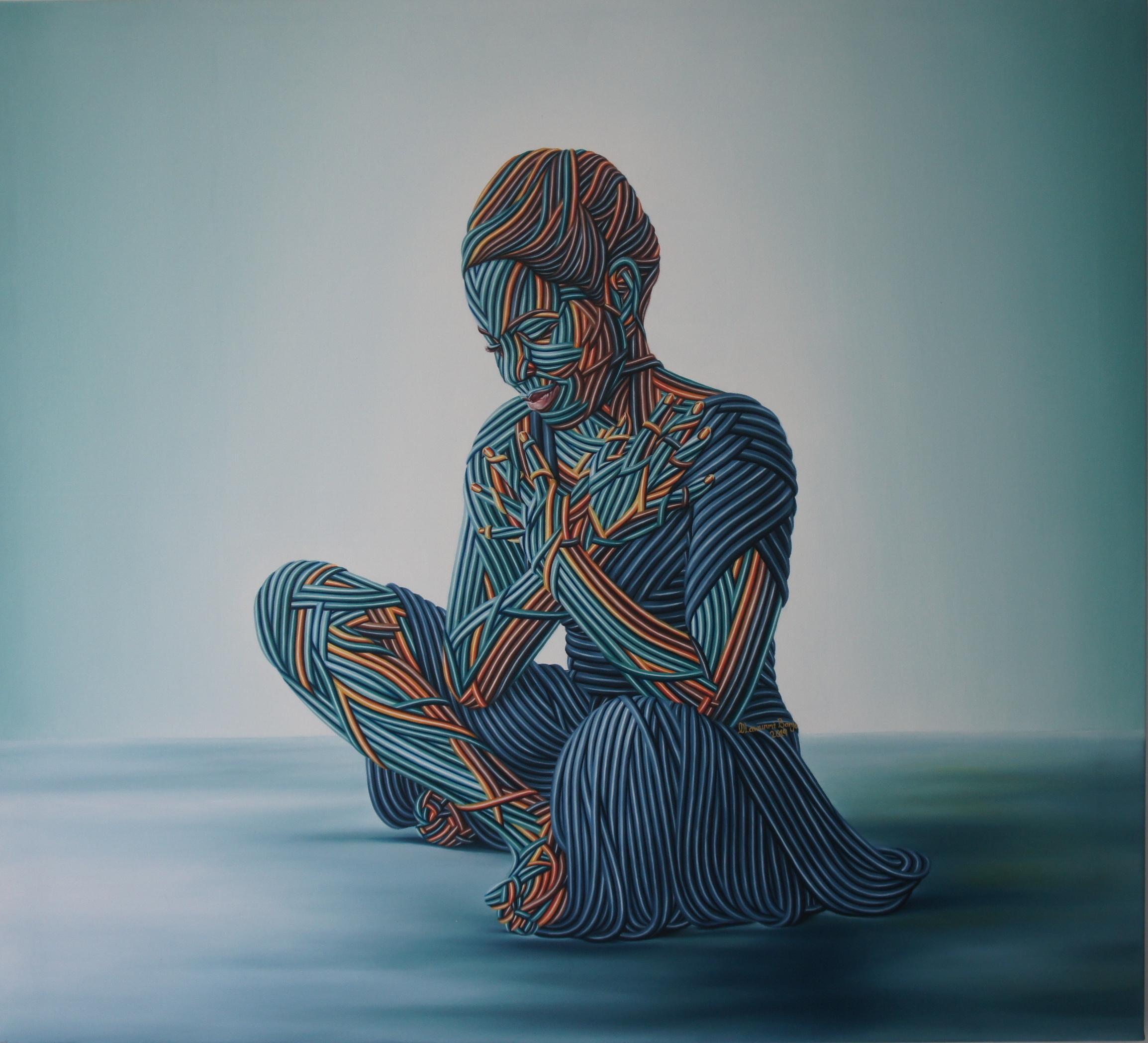 Inner Peace, Oil on canvas, 91 x 101 cm, 2019, Olawunmi Banjo