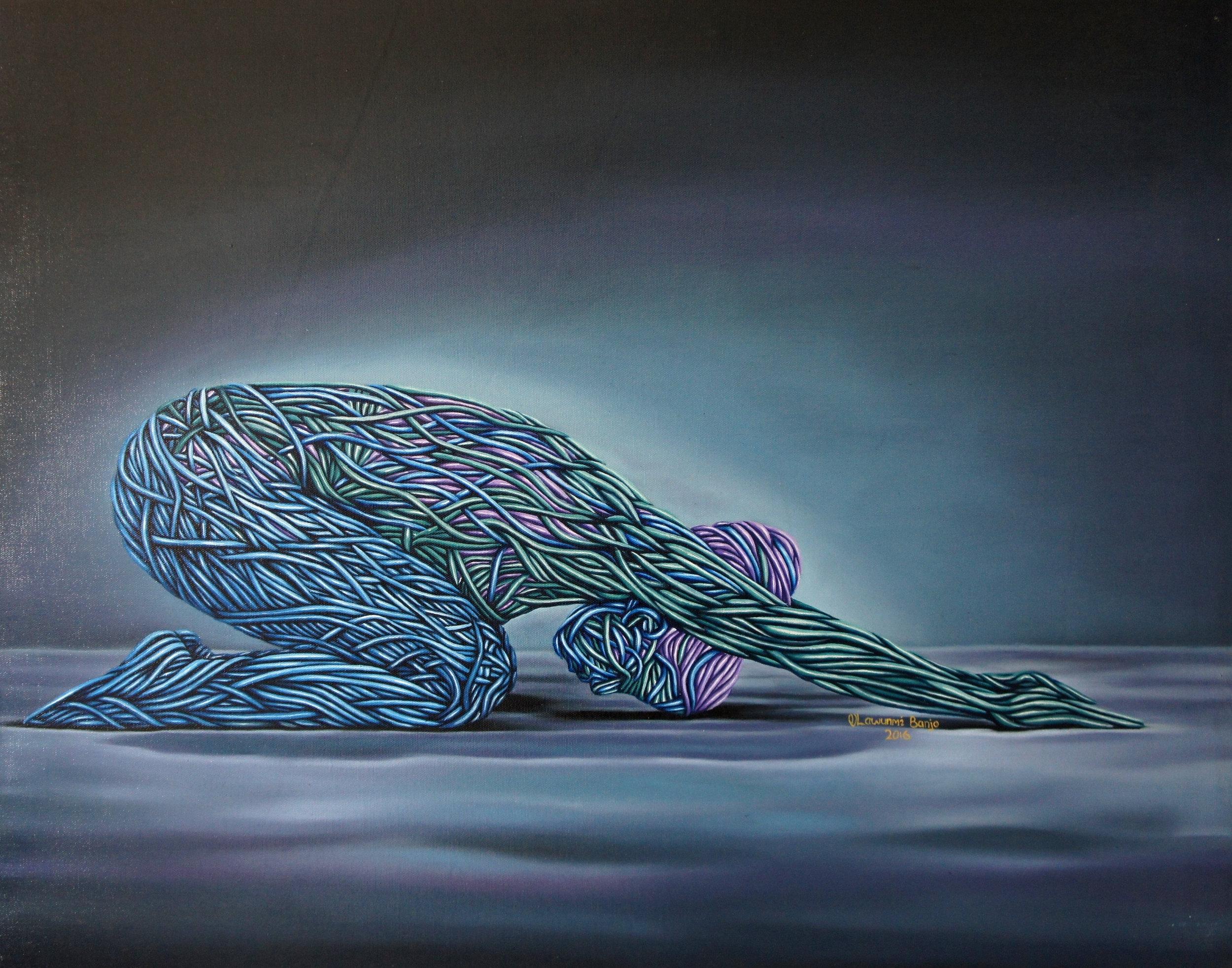 Recess, Oil on canvas, 56 x 71 cm, 2016, Olawunmi Banjo