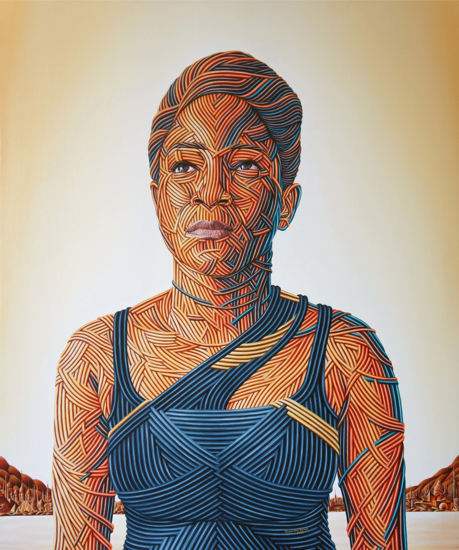 Sense of Self II, Oil on canvas, 122 x 101 cm, 2018, Olawunmi Banjo