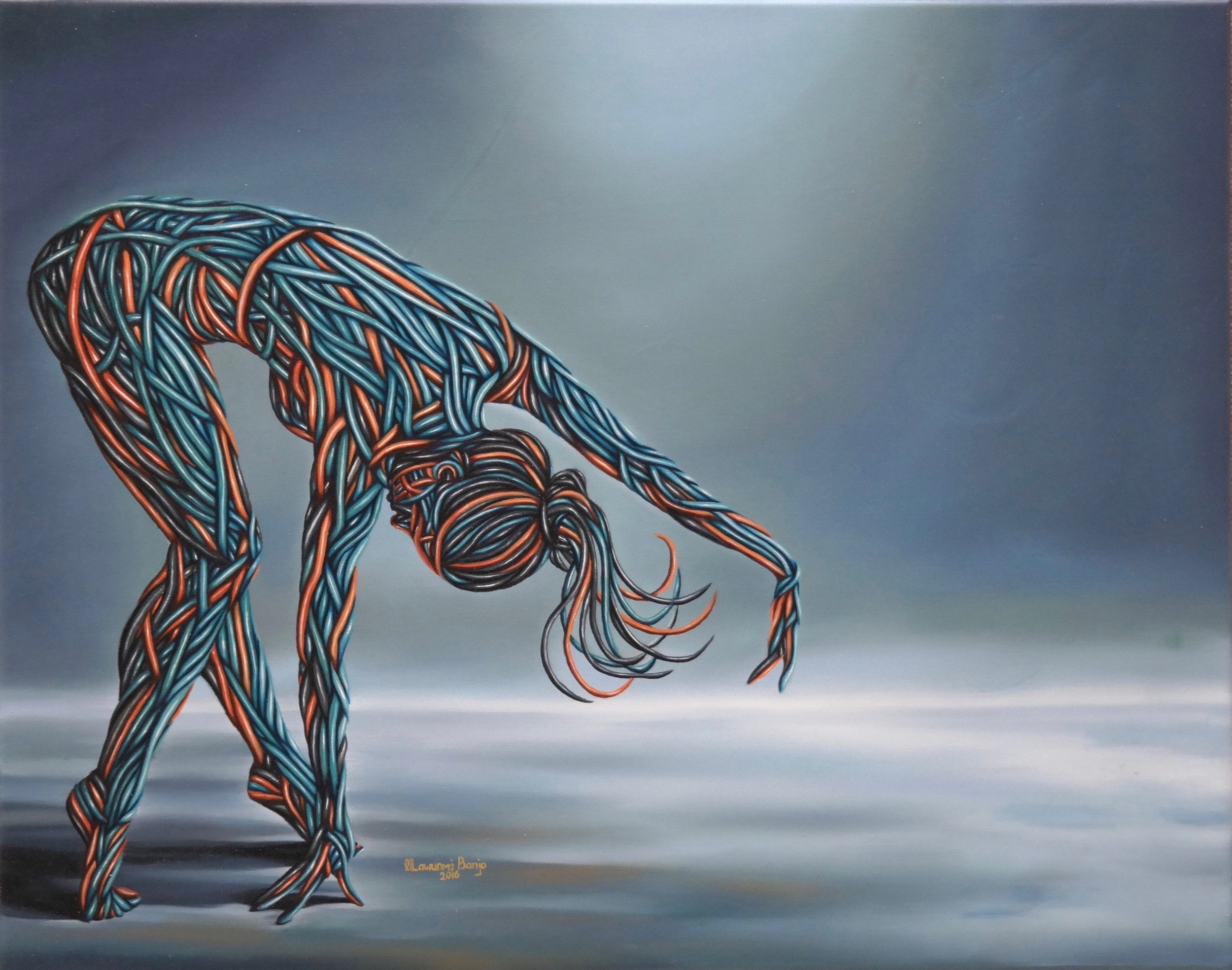 Sway, Oil on canvas, 56 x 71 cm, 2016, Olawunmi Banjo