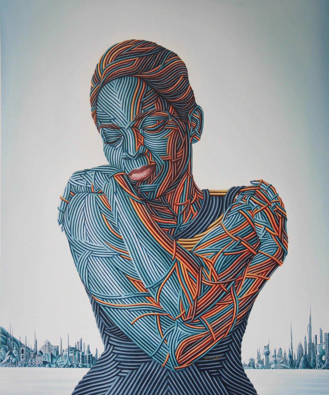 Sense of Self III, Oil on canvas, 122 x 101 cm, 2018, Olawunmi Banjo
