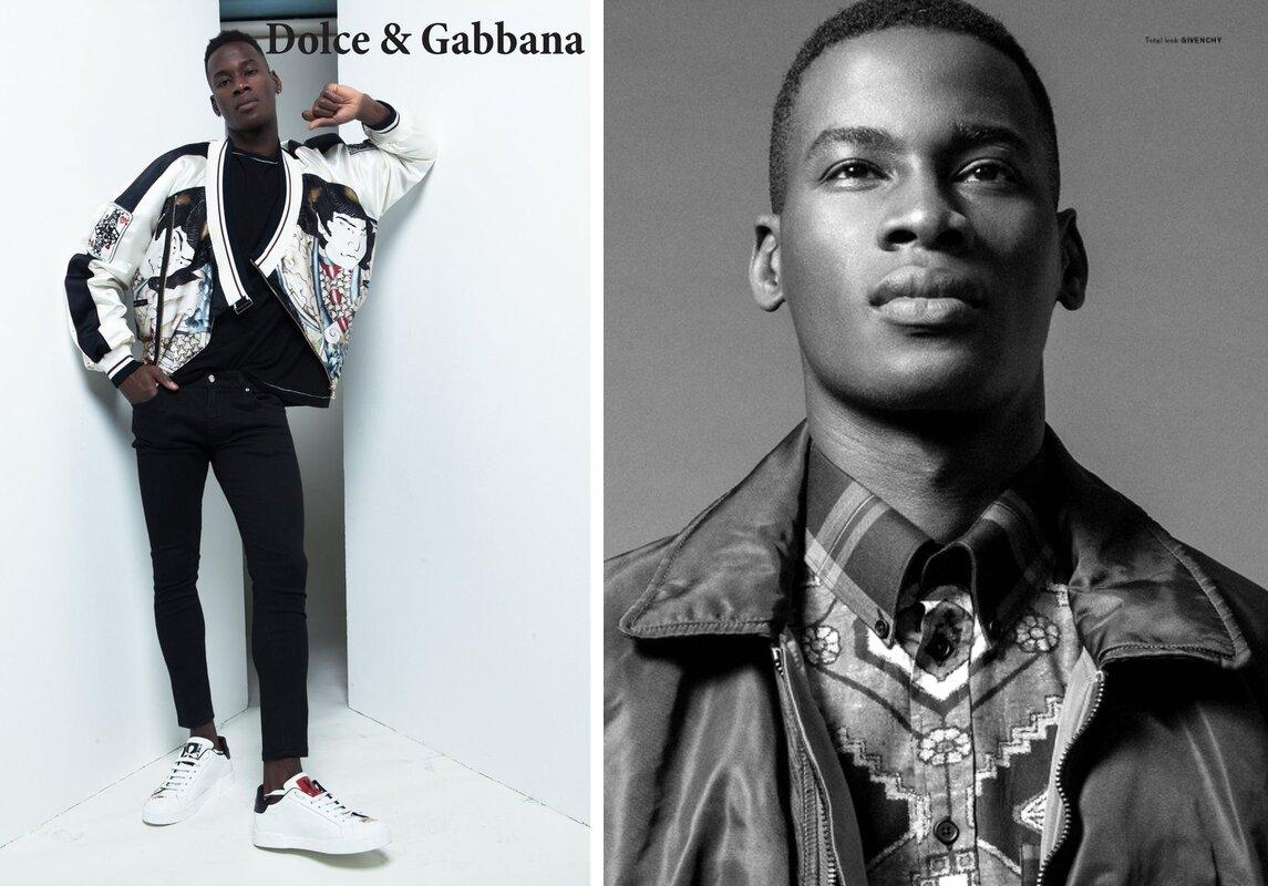 David Agbodji (Togo). Photo Source: Dolce & Gabbana