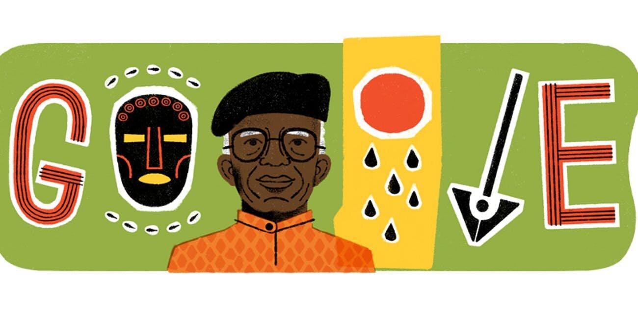 Chinua Achebe, Google Doodle. Photo Source: Inverse