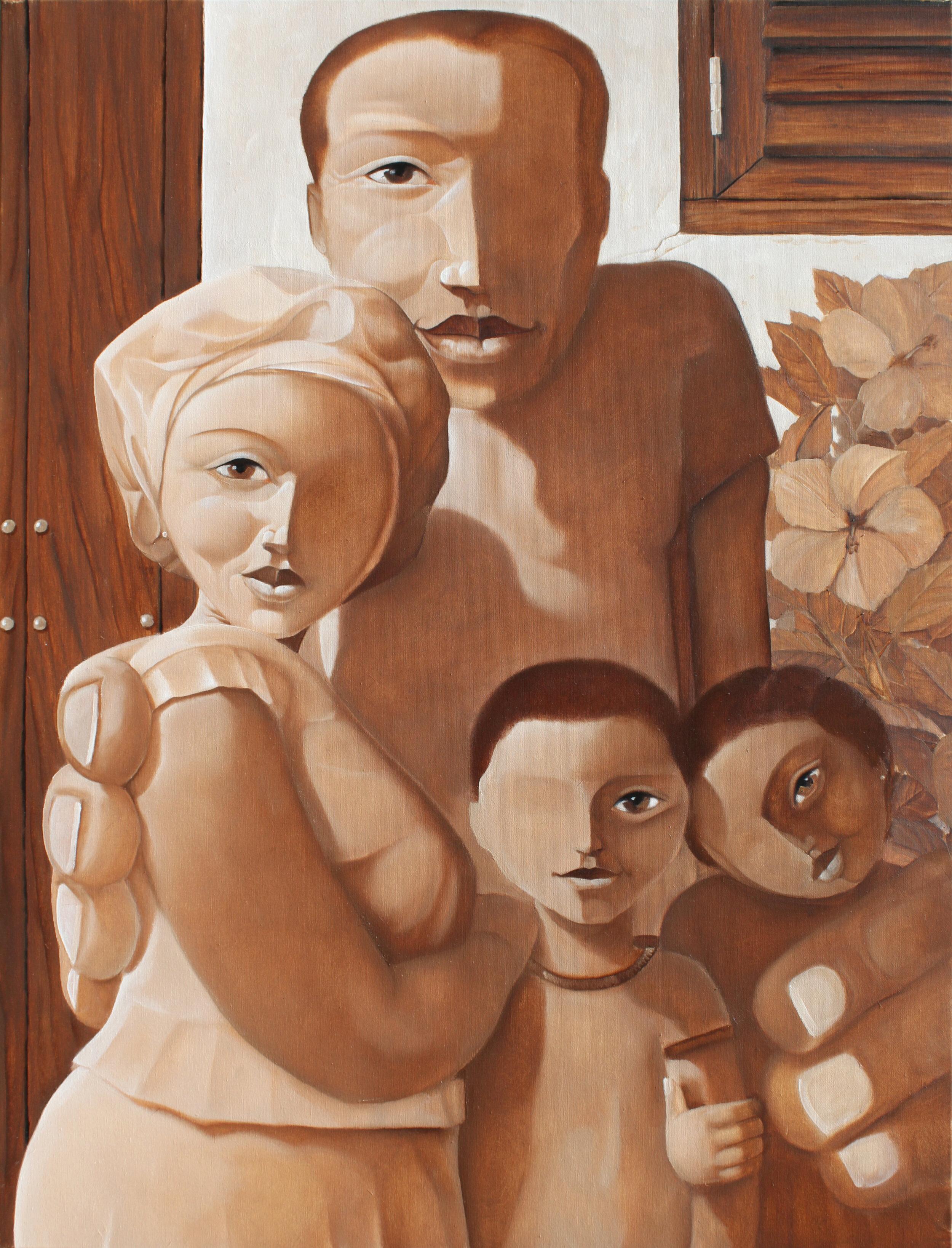 Family Portrait in Sepia