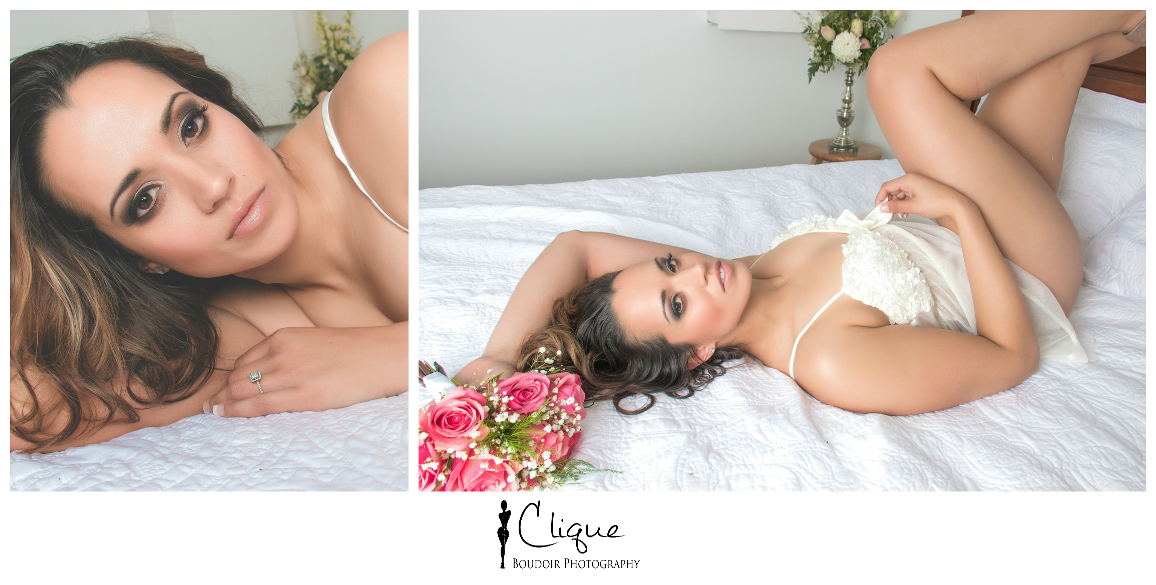 beautiful bridal boudoir photography