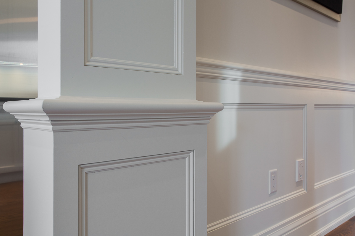 Trim carpentry, wainscoting