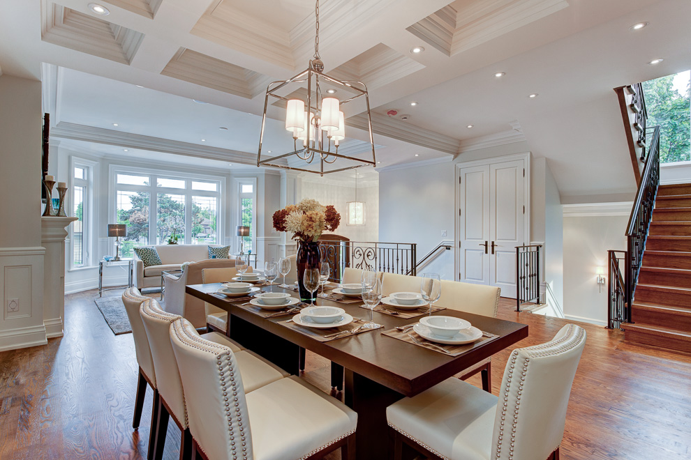 Dining room - transitional custom home