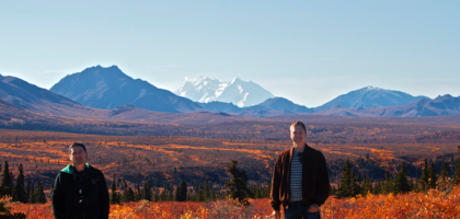 Denali Park with Mt. McKinley in the background.