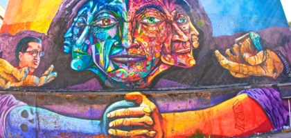 Valparaiso is famous for its gorgeous street art.