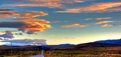 Evening clouds entering Argentina.