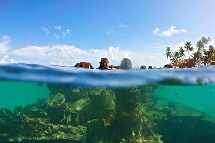 Shipwreck in the San Blas Islands.
