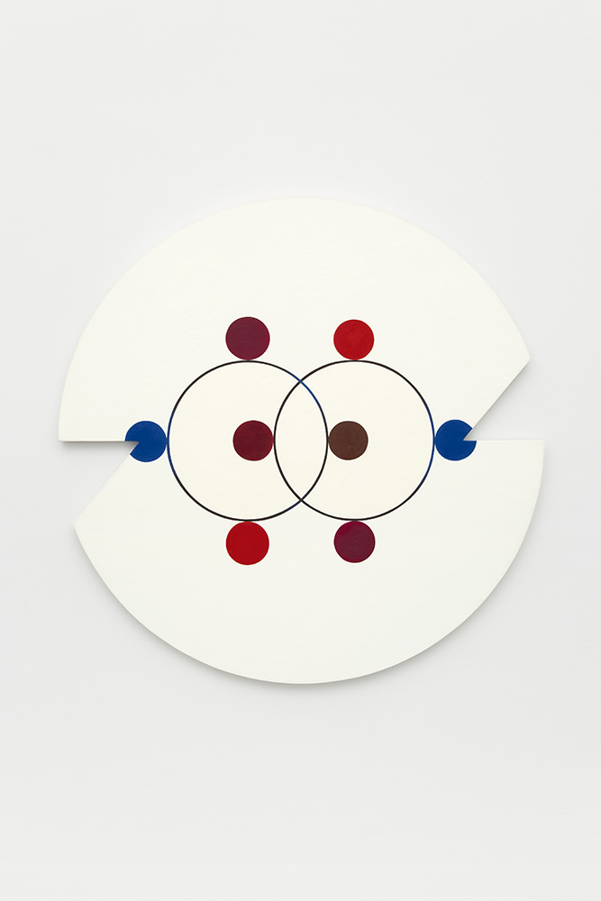 Marilyn Lerner   Eight Circles,  1989  Oil on wood  36 inches diameter