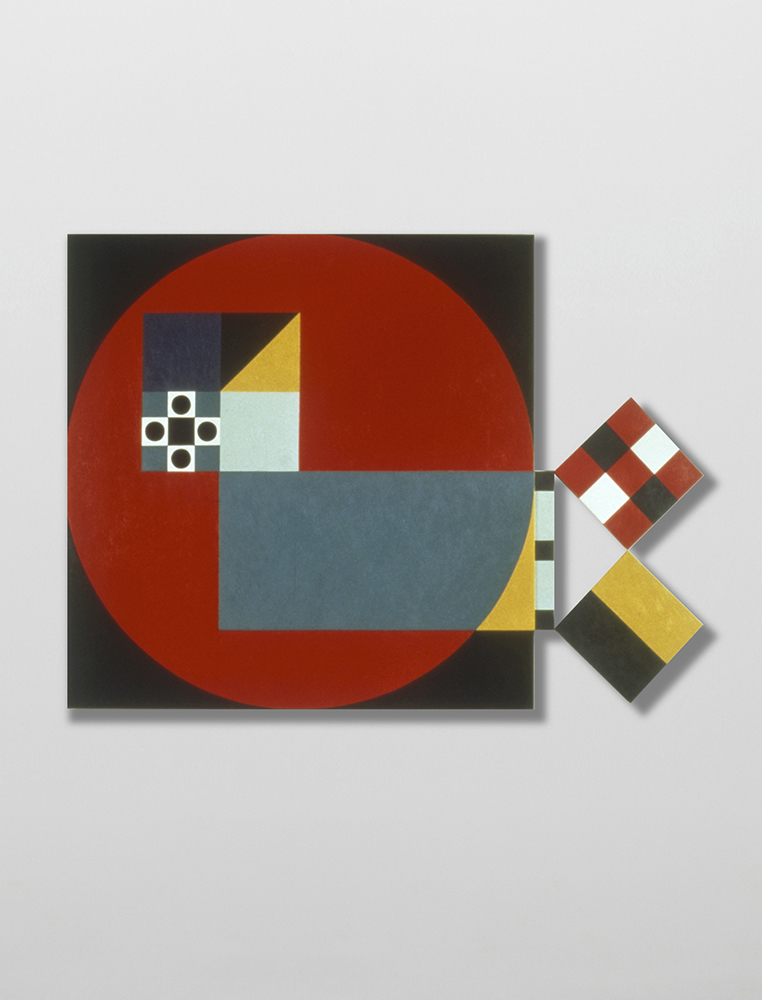 Marilyn Lerner   Forms of Experience,  1988  Oil on wood  48 x 65 1/2 inches