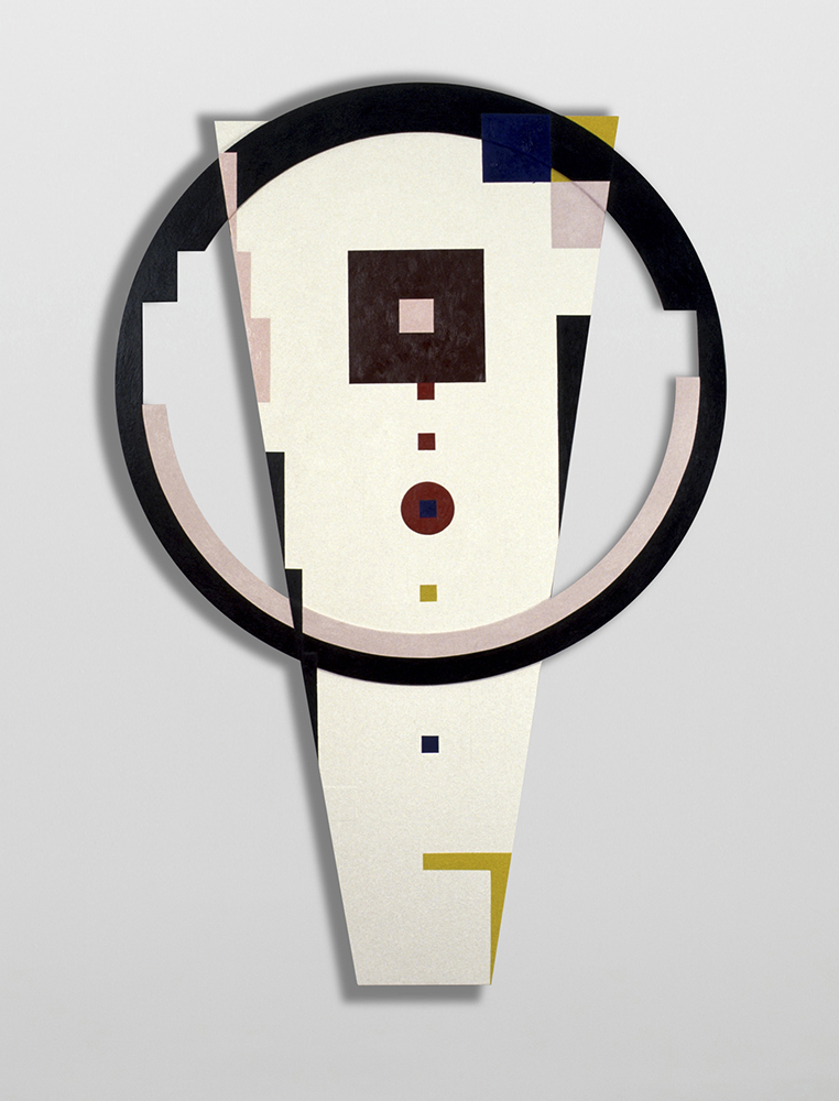 Marilyn Lerner   S.O. He Says,  1988  Oil on wood  67 1/2 x 45 inches