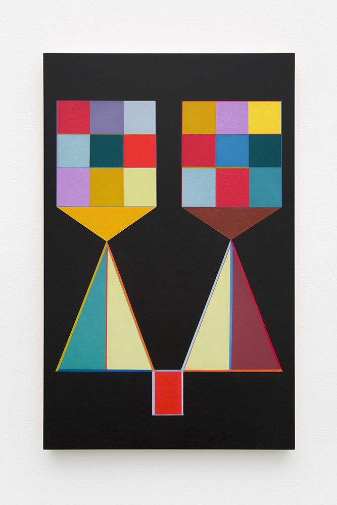 Marilyn Lerner   Sisters , 2015  Oil on wood  30 x 19 inches
