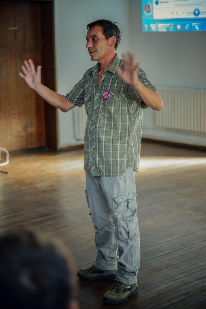 The inimitable Hristo Hristov, lead biologist on the Tarpan project and many other re-wilding projects in the Rhodope.