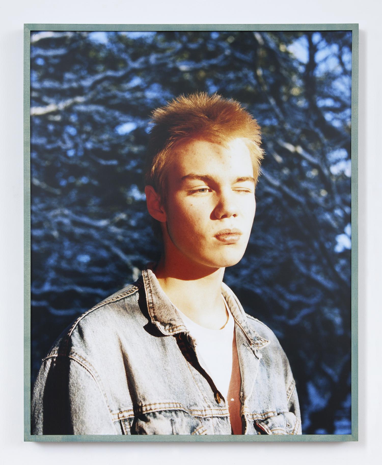 Snorri , 2018  Chromogenic Print  Manic Panic ®  Bad Boy™ Blue Stained Frame  24 x 30 Inches