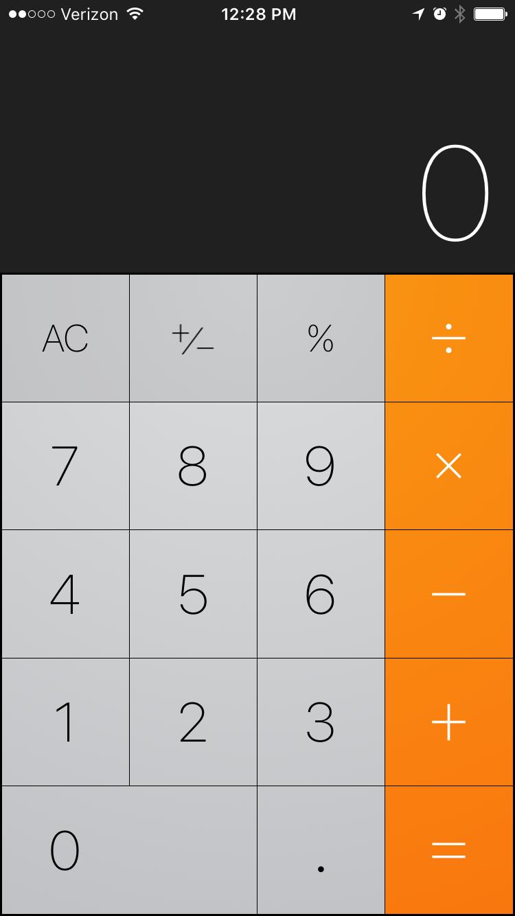 Native iOS Calculator