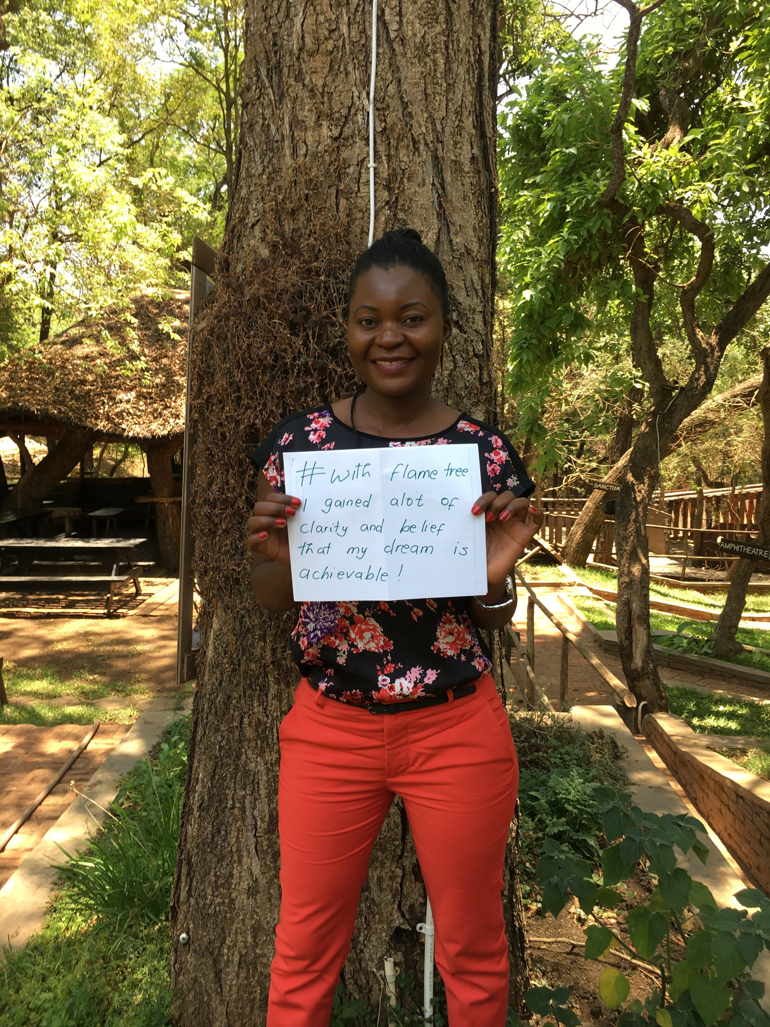 #withflametree Mphatso gained clarity and the belief that her dream is achievable.