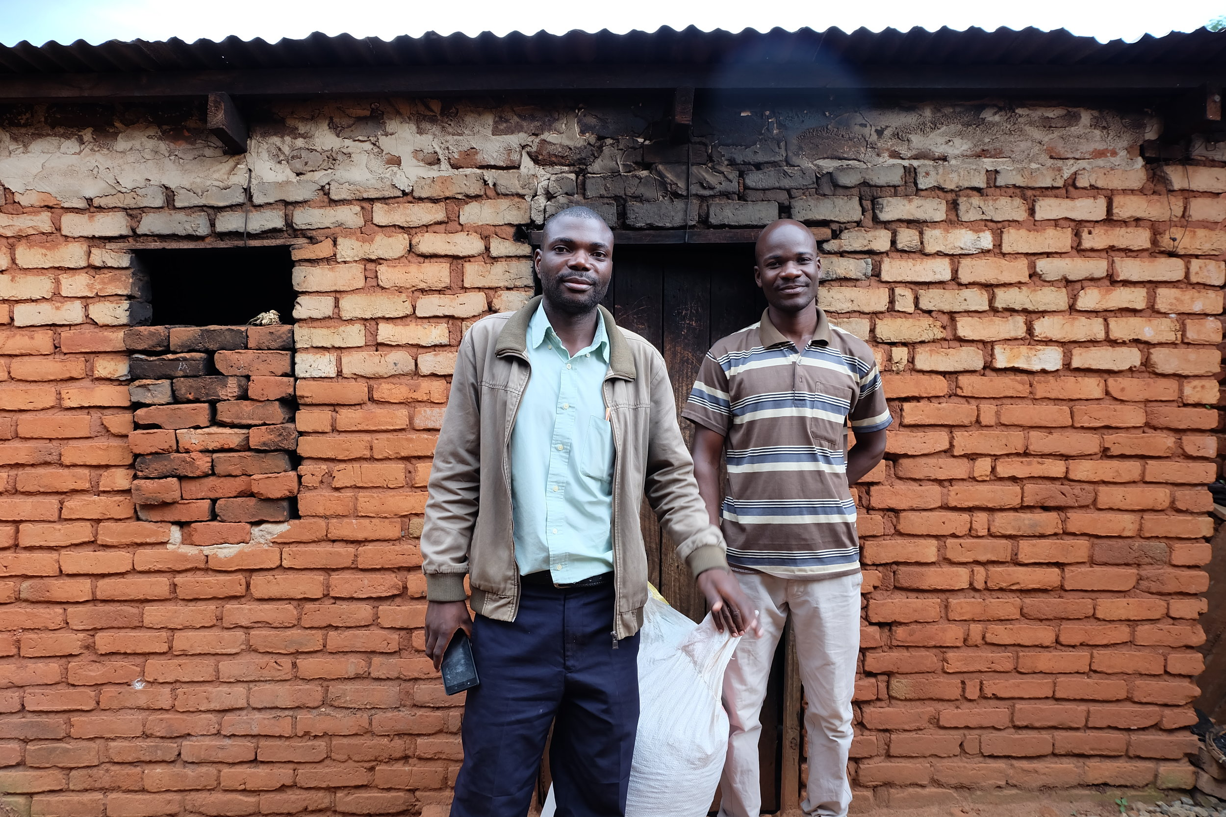 K-Farm Centre and Green Ventures founder, Marko Chiumia (left), with his business partner, Aaron Kapesa.
