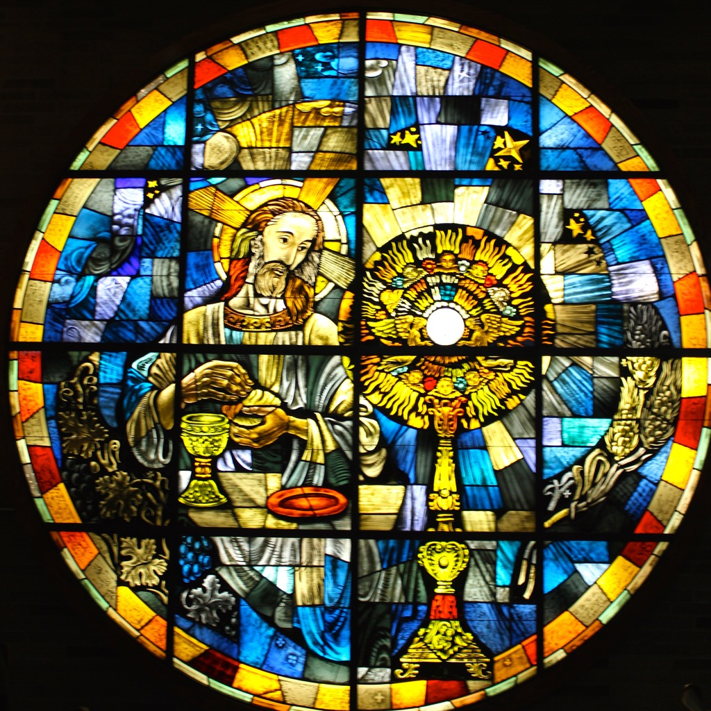 Round Stained Glass Window in Chapel of St. Leo.jpg