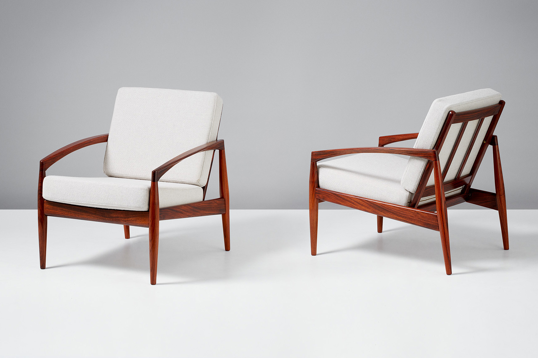 Kai Kristiansen Paper Knife Lounge Chairs, Rosewood