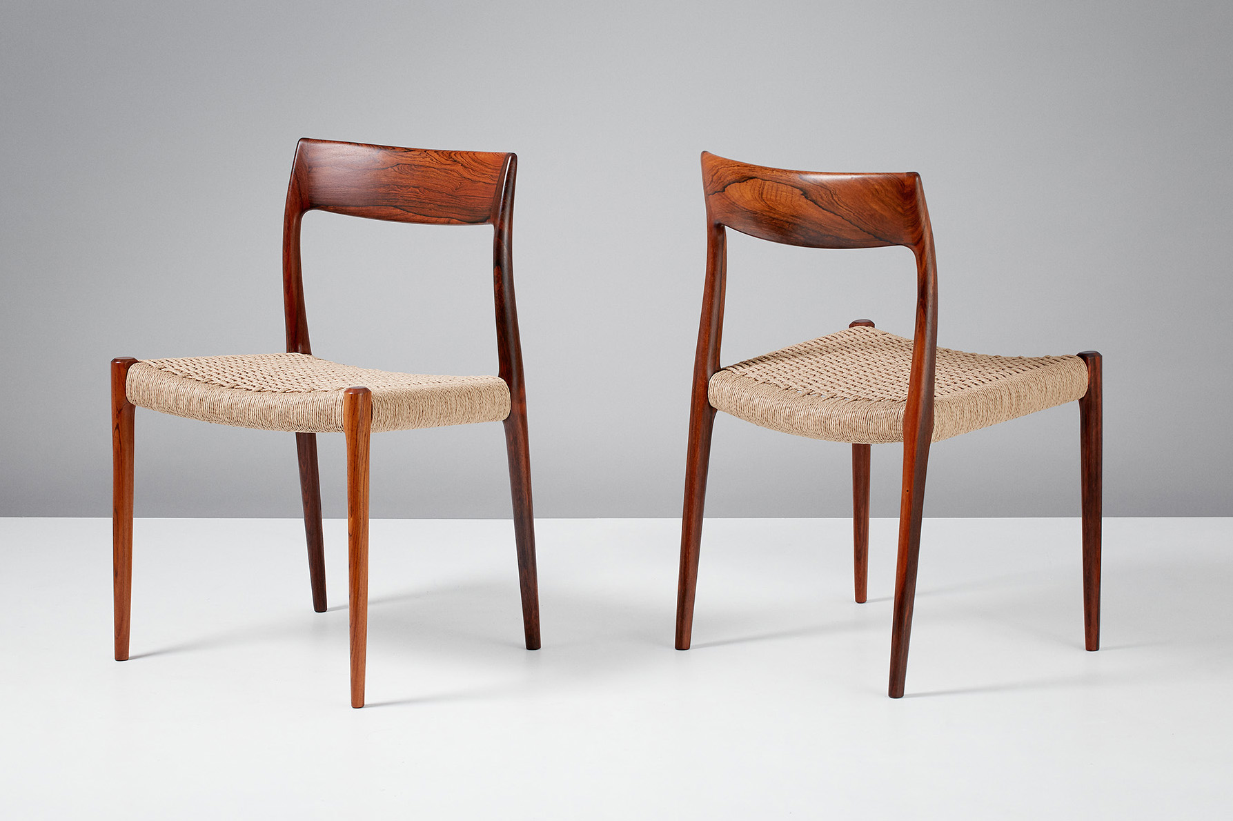 Niels Moller Model 77 Dining Chairs, Rosewood