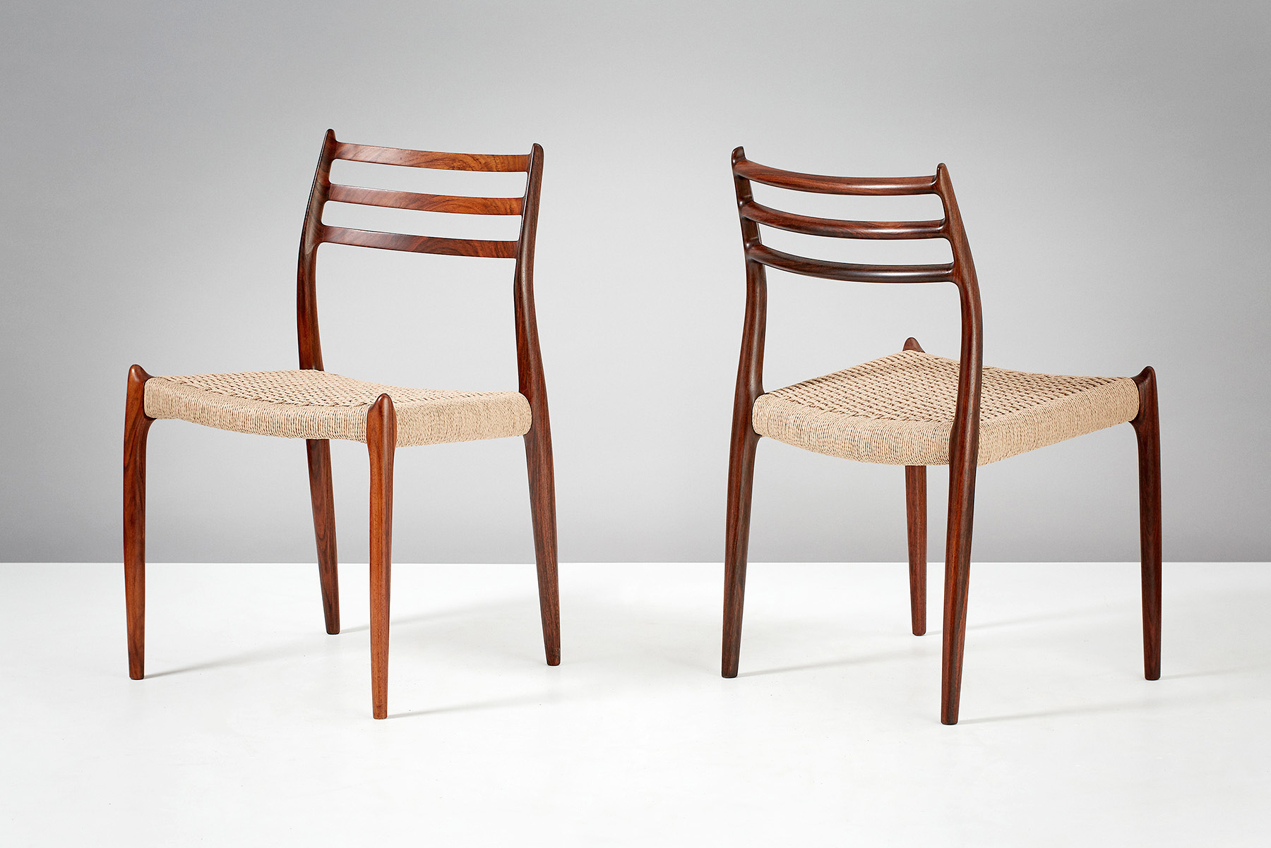 Niels Moller Model 78 Dining Chairs, Rosewood & Papercord