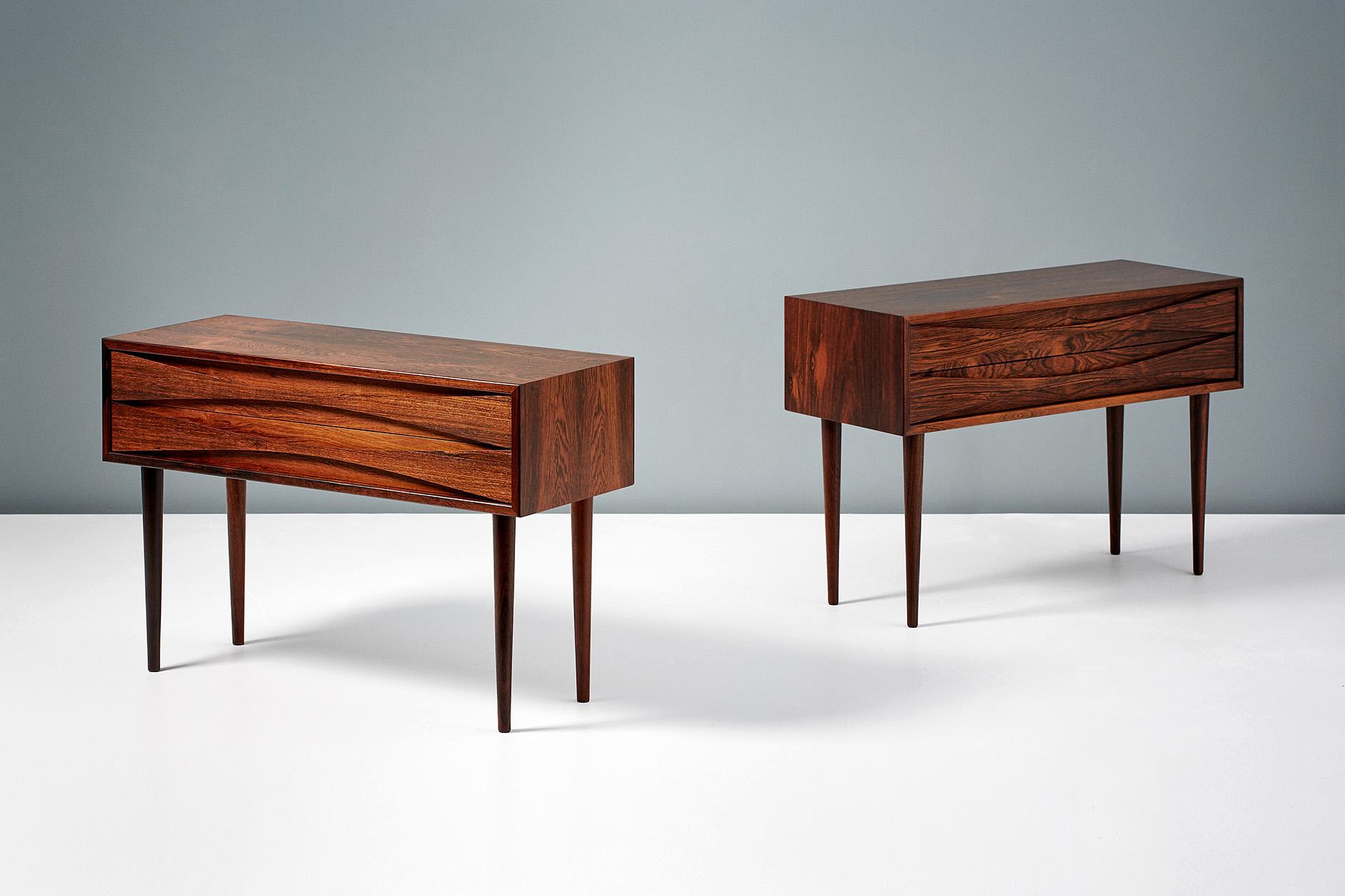 Niels Clausen  Bedside Cabinets, Rosewood
